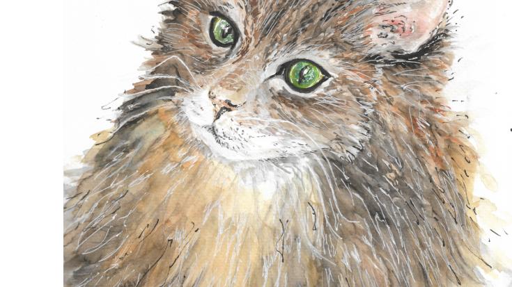 Fluffy Feline Print