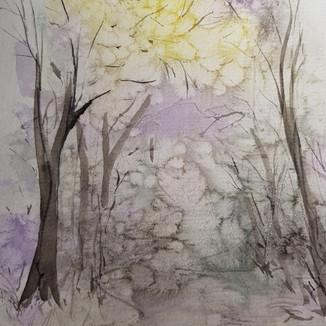 """7x5"""" mini watercolour forest"""
