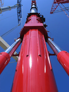large hydraulic crane