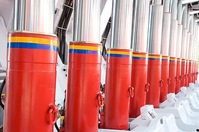 large hydraulic support system in factory