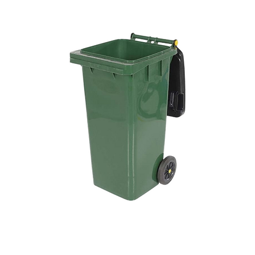 Covered Trash Can