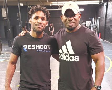 Coach Huitt with friend Nahshon Garret