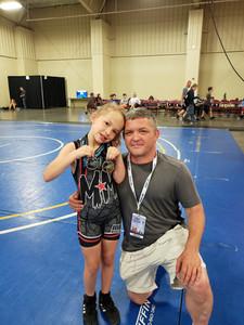 Coach Cain Beard and his daughter Reagan Beard