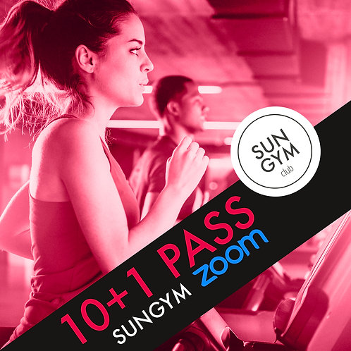 10 PASS SUNGYM ZOOM + 1 OFFERT