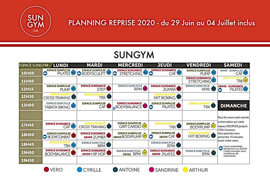 PLANNING REPRISE 2020 SUNGYM-290620 au 0
