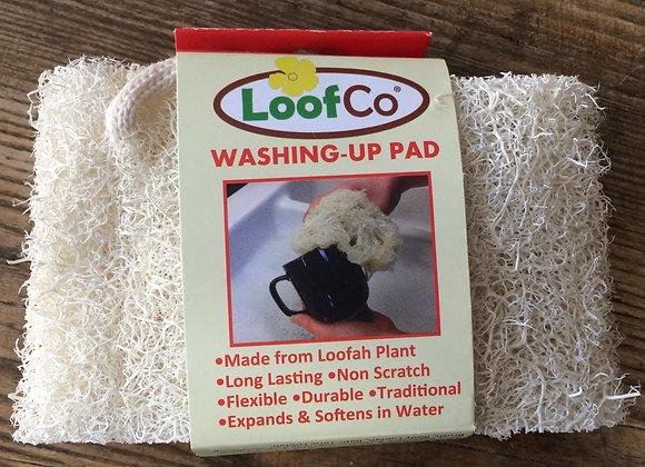 Loofah washing up pad