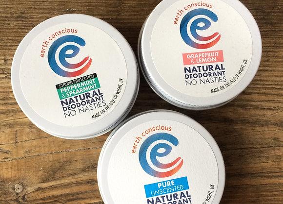 Earth Conscious deodorant tin