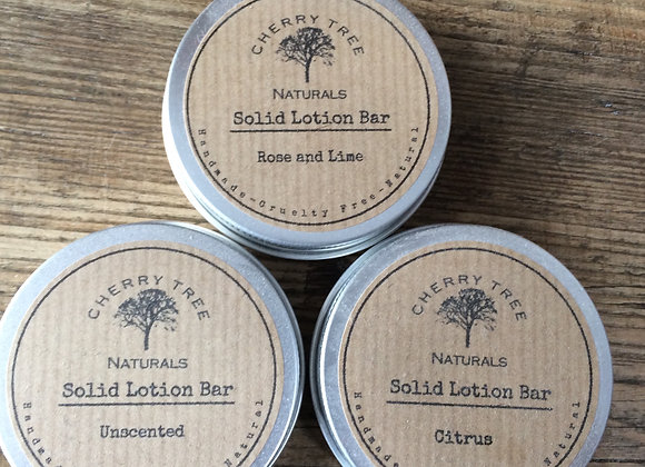 Solid body lotion by Cherry Tree Naturals