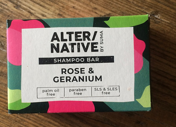 Alter/native shampoo bar (rose and geranium)