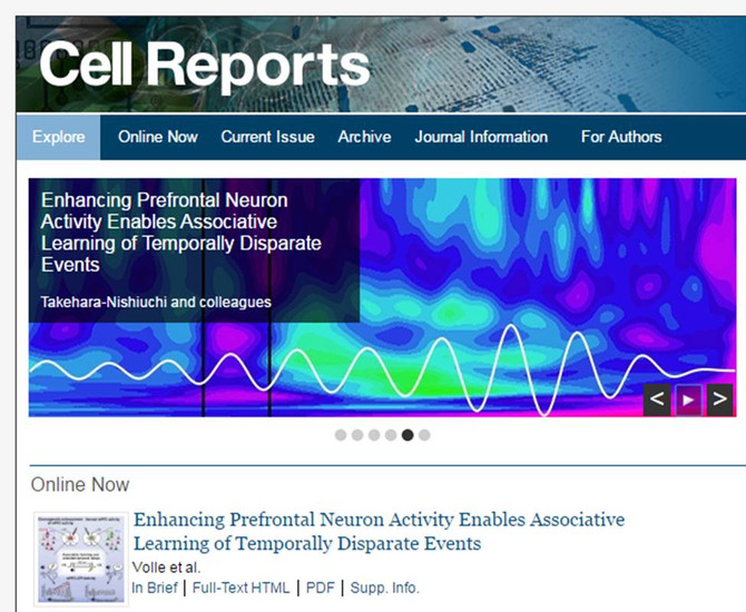 New paper published in Cell Reports