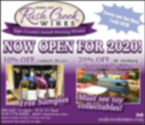 Rush Creek Open for 2020 Season