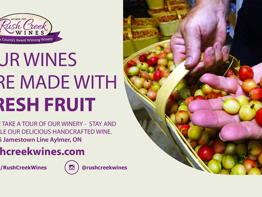 Our Wines are made with Fresh Fruit