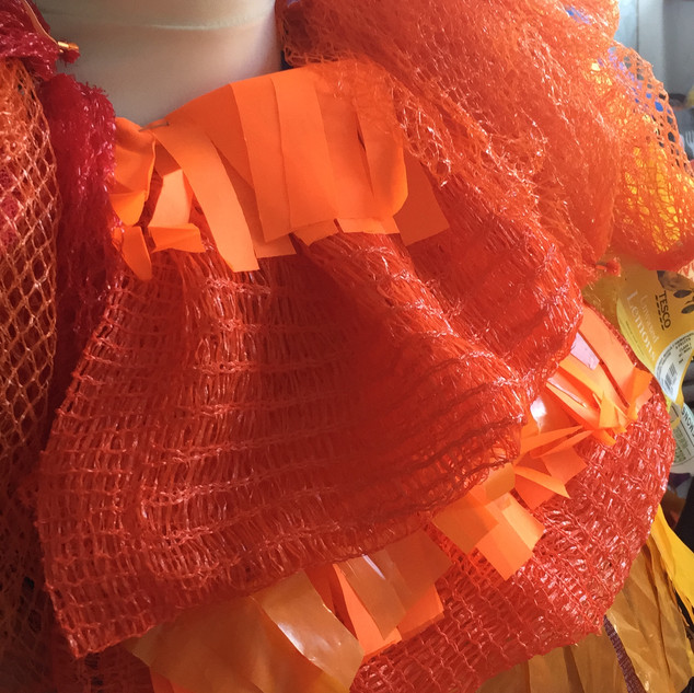 Recycled orrange netting.JPG