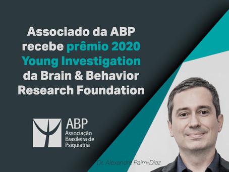 Associado da ABP recebe prêmio 202 Young Investigator da Brain & Behavior Research Foundation