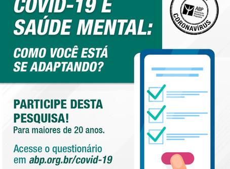 Participe da pesquisa sobre o momento atual e a saúde mental: como você está se adaptando?