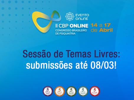 Temas Livres CBP Online: submissão até 08/03!