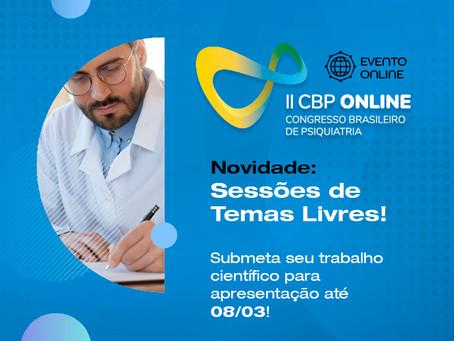 Temas Livres no CBP Online, submeta seu trabalho!