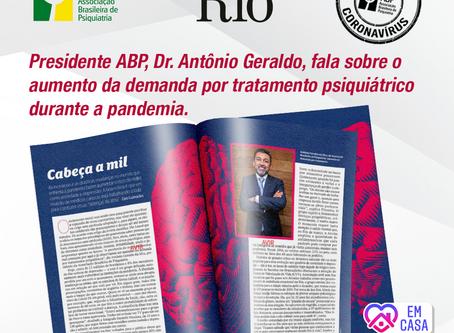 Presidente da ABP fala sobre saúde mental em tempos de pandemia à Veja Rio