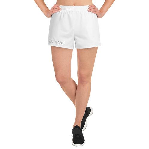 Women's Athletic Short Shorts Black Logo