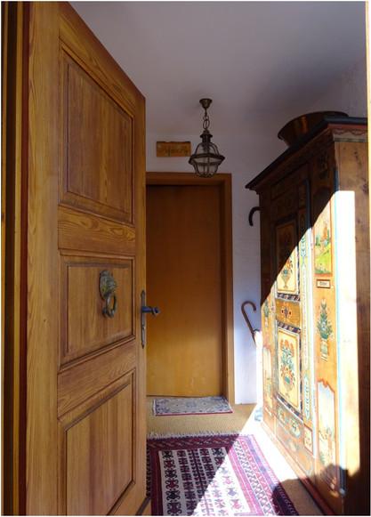 Entrée villa à Gstaad