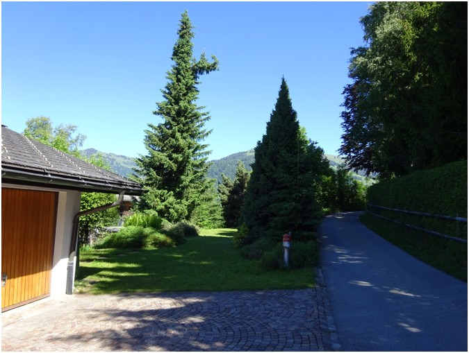 Vue arrière villa à Gstaad
