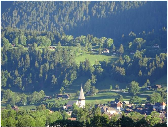 Vue villa à Gstaad