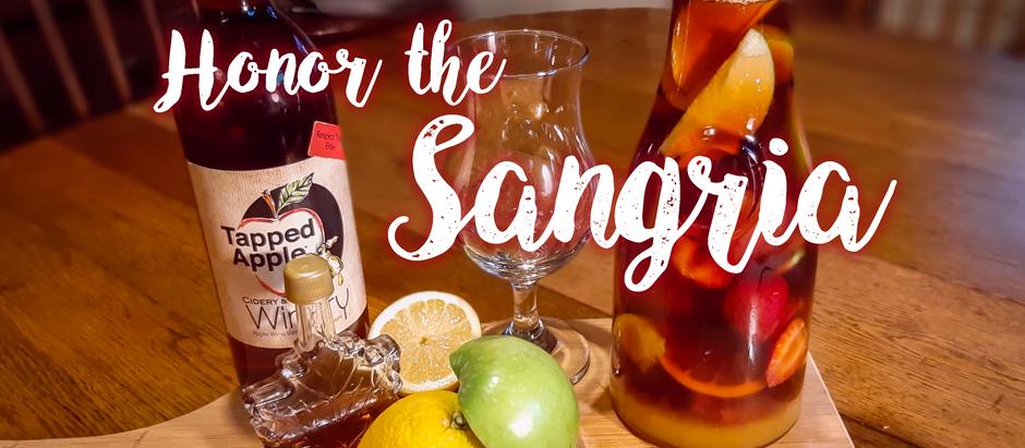 "Refreshing Apple Wine Sangria Recipe: ""Honor the Sangria"""