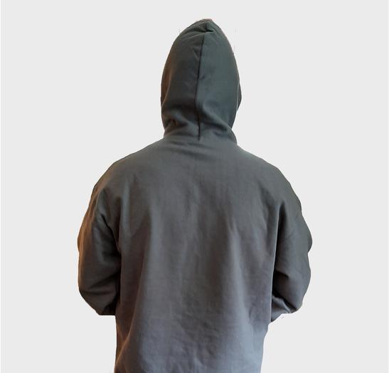 Grey Pullover Hoodie Back Model.png