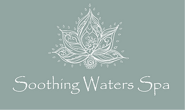 Soothing Waters Spa logo white on blue.p