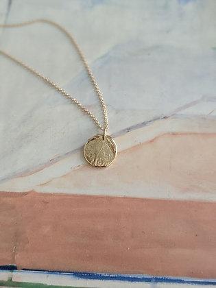 Hand-formed Impression Medallion Pendant