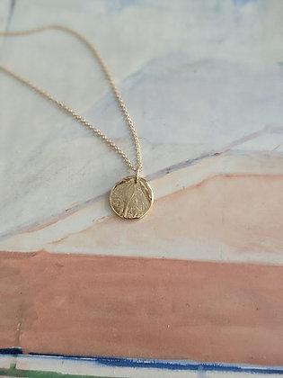 Hand-formed Impression Medallion Pendant