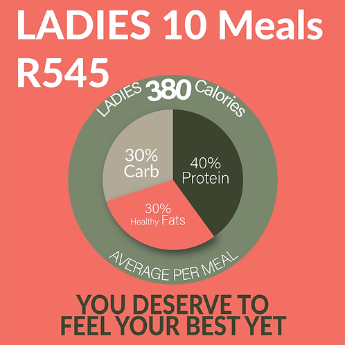 Meal Plan - Ladies 10 Meals (Most Cost Effective)