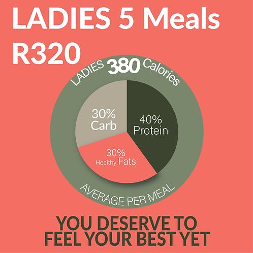 Meal Plan - Ladies 5 Meals