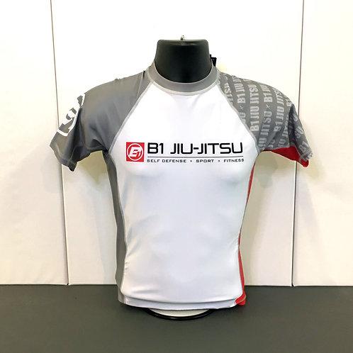 White / Grey - Youth No-Gi Short Sleeve