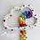 Thumbnail: Super Speckled Rainbow Rain Cloud Wall Hanging - 30cm - Bright Rainbow
