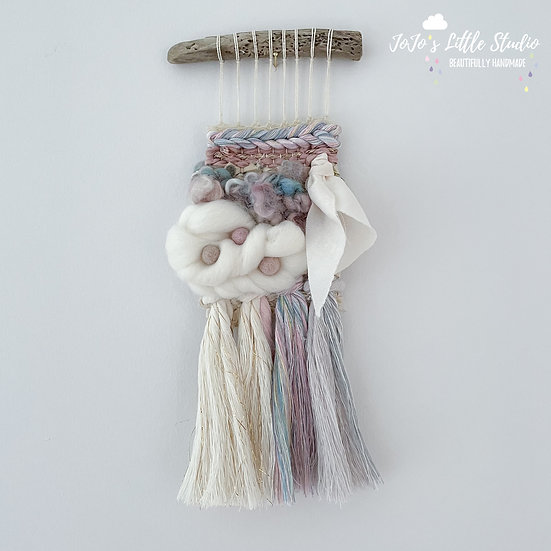Mini Ivory Pastel and Gold Weave - #12 - 9cm x 28cm