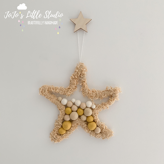 Starfish 20cm Wall Hanging - Sand