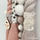 Thumbnail: Super Chunky Rope and Pom Pom Rainbow Wall Hanging - Blush Taupe Polka