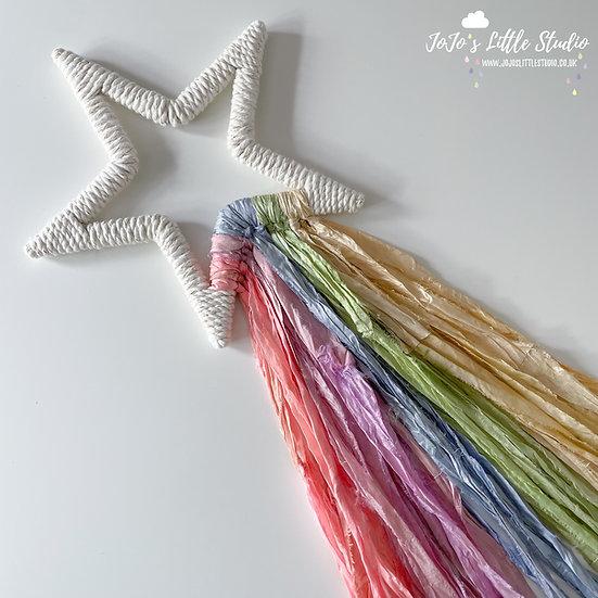 Summer Rainbow Shooting Star Wall Hanging - 20cm