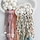 Thumbnail: Rainbow Silk and Polka Dot Double Rain Cloud Wall Hanging - 20cm