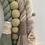 Thumbnail: Super Chunky Rope and Pom Pom Rainbow Wall Hanging - Taupe Ivory Olive