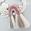 Thumbnail: Silk and Cotton Rope Rainbow Cloud Wall Hanging - 25cm - Blush Taupe Lilac