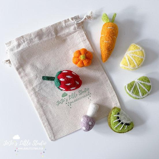 Fruit & Veg Theme - 7 Piece Felt Shape Set