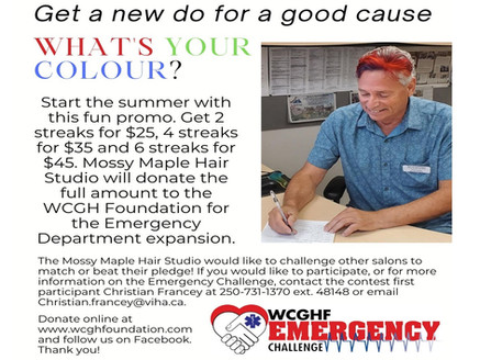 Get a new hair colour for a good cause!