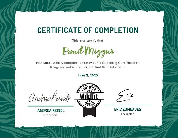WILDFITi sertifikaat