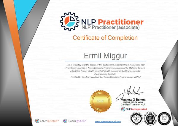 NLP sertifikaat