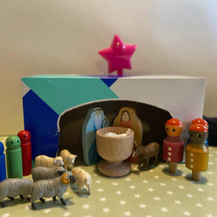Nativity Scene by Roseanne and Family