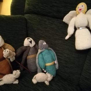 Nativity Scene by Faith Bowers: the shepherds hear the news