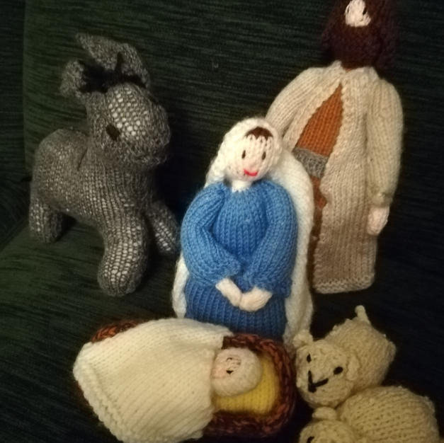 Nativity Scene by Faith Bowers: Jesus is born
