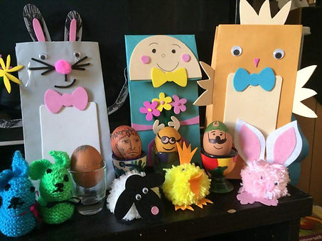 Easter Eggs by Lynn G and the Grandchild
